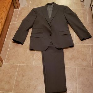 Banana Republic Mens Grey Pinstripe Suit